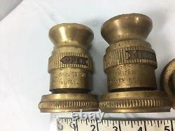 Lot Of 10 Brass Fire Hose Nozzles Camlock & Couplings Various Sizes Heavy Duty