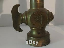 Lot Of 2 Vintage Brass W. D Allen MFG. Fire Hose Nozzle Old Collectable
