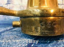Lot Of Two  Vintage 21/2 In. McIntire Brass Morris Shut Off Fire Nozzles