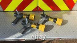 Lot of 3 Elkhart Brass SM-20FG Select-O-Matic fire hose nozzles