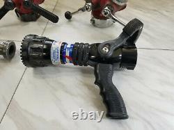 Lot of 4 Fire Hose / Nozzle / Hydrant Splitters Sprayers POK, Task Force, Elkha