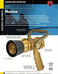 Marine Elkhart Shipboard Brass Fire Nozzle withpistol grip SFL-GN-125. MIL-SPEC