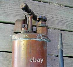Maybe 1st MODEL A PYRENE Copper FIRE EXTINGUISHER withGAUGE Hose Nozzle