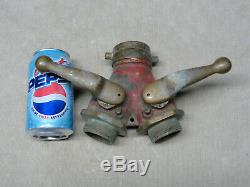 Morse Shut Off Nozzle Wye 3 Way Fire man Fighter Hose Solid Brass with Ball Valves