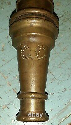 NICE! Elkhart MFG CO. 12-50 Vintage Brass Fire Department Hose Nozzle 30