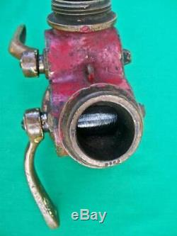 Old Elkhart Brass Double End Fire Hose Nozzle Connection