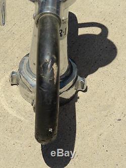 Old RENO Fire Dept R1 Fireman Fire Hose Nozzle Sprayer Chrome Over Brass Camcone