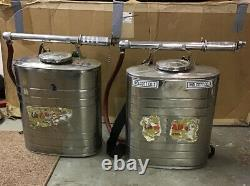 Pair Indian Fire Pump D. B. Smith & Co. Utica NY Firefighter Equipment