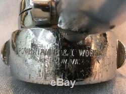 Powhatan B&I wks Ranson W. Va. Chrome Fire Nozzle