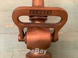 Powhatan Brass Fire Hose Nozzle Antique Vintage, Ranson W VA