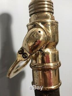 RARE A. J. Morse & Sons Vintage Brass Fire Nozzle