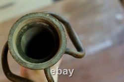 RARE Antique Nozzle BRASS COPPER Pipe FIRE HOSE 30 Fire Department collectible