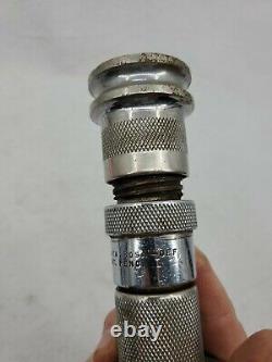 RARE Santa Rosa Fire Twist On and Off Silver Tone Chrome Brass Nozzle Patent Pnd