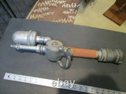 Unusual 1935 Design Dual Function Stream / Fog Akron Brass Co. Fire Hose Nozzle