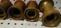 Used 3 # 463 1 1/2 Inch Powhatan All Fog Dnq Fire Hose Nozzles & Elkhart L205b