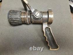 VINTAGE 1.5 NP-SH 4210-00-465-1906 Elkhart Fire Nozzle Brass