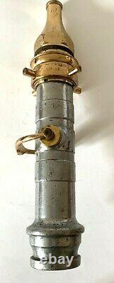 Vintage 1949 Fire brigade hose nozzle 17 long. X 5/8 by Knowsley N. C. F. B