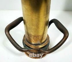 Vintage 30 Elkhart Brass Fire Nozzle Double Handle