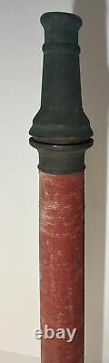 Vintage 30 In. Brass Red Cord W. D. ALLEN MFG. CO. Chicago Fire Nozzle Play Pipe