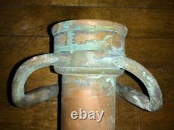 Vintage 31-5/8 Long Brass Red Cord style W. D. ALLEN MFG. CO. Chicago Fire Nozzle