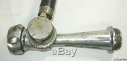 Vintage Akron Brass Fire Foam In-Line Eductor 60 GPM nozzle hose application