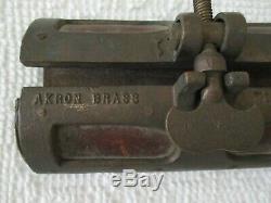 Vintage Akron Brass Fire Hose Jacket Excellent
