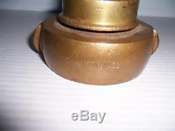 Vintage Akron Brass Fire Hose Nozzle