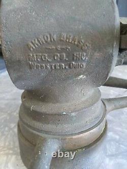 Vintage Akron VICTORY Brass Fireman's Fire Hose Nozzle & Valve Body