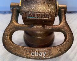 Vintage Brass Alfco Fire Nozzel
