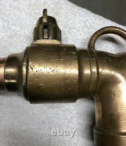 Vintage Brass Fire Hose Nozzle 62cm