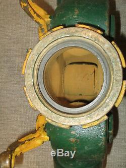 Vintage Brass Fire Hose Three Way Wye Valve Splitter Akron Brass