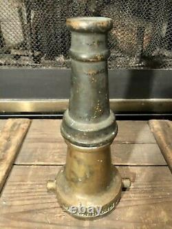 Vintage Brass Fire Nozzel Curtis & Sons Oakland Calif