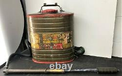 Vintage Brass Indian Fire Pump D. B. Smith & Co. Utica NY Firefighter Equipment