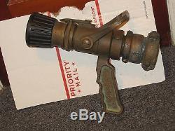 Vintage Brass Large Fire Hose Nozzle