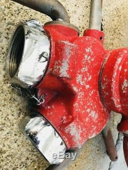 Vintage Brass MFG Co Fire Truck Cannon Sprayer Gun Fire Department