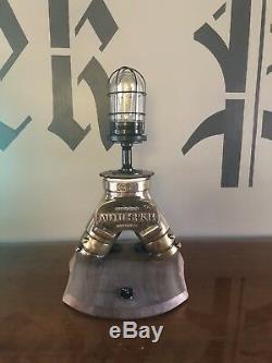 Vintage Brass Powhatan Fire Dept. Sprinkler Connection Light
