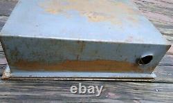 Vintage Canvas Allenco Fire Hose Station Cabinet, brass nozzle, brass spigot 1968
