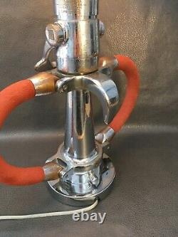 Vintage Chrome HYFLO 2 1/2 inch fire nozzle Custom Table Lamp 29 In. H