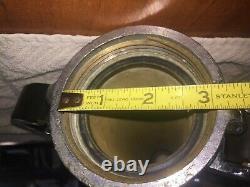 Vintage Chromed Brass Akron Fire Department Hose Nozzle