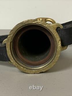 Vintage ELKHART 16.25 SOLID BRASS double handle FIRE HOSE NOZZLE