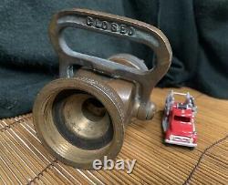 Vintage Elkart Brass Mfg. Co Chief Fire Hose Nozzle Great Original Condition