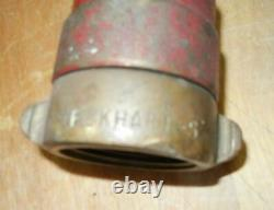 Vintage Elkhart 241 Brass Fire Hose Foam In-Line Eductor 95 GPM Nozzle Complete
