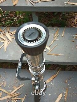 Vintage Fire Nozzle Elkhart With Tip Two Handed Pump Playpipe