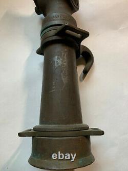 Vintage Grether Fire Hose Nozzle 18