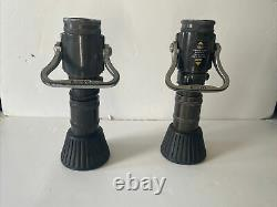Vintage LAFD Elkhart brass MFG Fire Hose Fog Wide Or Narrow Nozzle