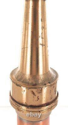 Vintage / Large / Tall Copper Brass Fire Dept Fire Hose Nozzle. #2