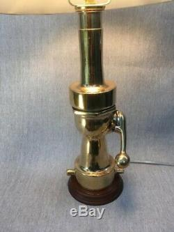 Vintage Morse Shut off fire nozzle made into custom lamp