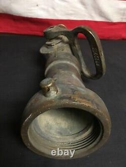 Vintage Original Wooster Brass Fire Fighter Hose Nozzel