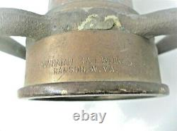 Vintage Playpipe Powhatan B I Works Brass Copper Fire Nozzle 30 Firefighter
