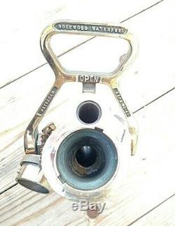 Vintage Polished Brass Rockwood Sprinkler Co. Water Fog NozzleFire Hose Navy
